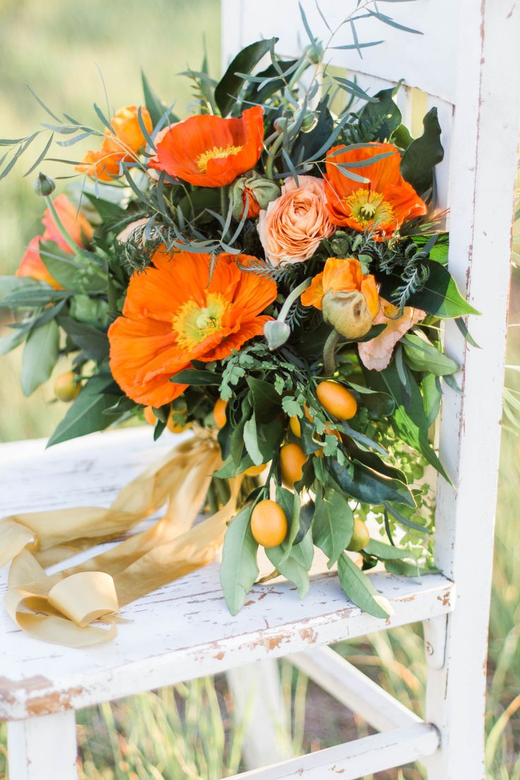 California Weddings Icelandic Poppies Spring Wedding