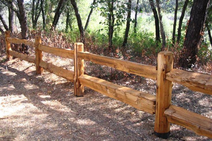 Cedar split rail fence - Love the idea of this for the front fenceline