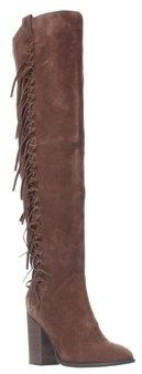 Carlos by Carlos Santana Garrett Fringe Over The Knee Slouch Boots, Mustang.
