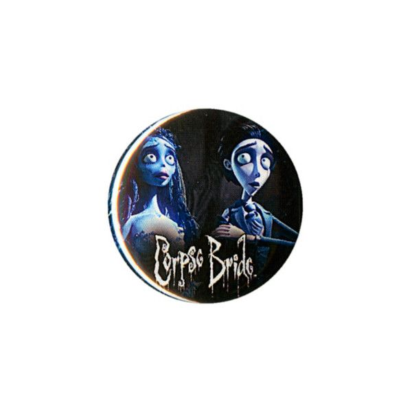 Corpse Bride Victor & Emily Pin | Hot Topic ($1.59) ❤ liked on Polyvore featuring jewelry, brooches, buttons, extras, pin brooch, button jewelry and pin jewelry