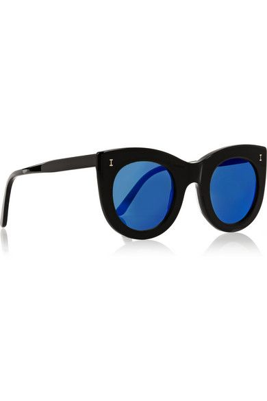 Illesteva   Boca cat-eye acetate mirrored sunglasses   NET-A-PORTER.COM