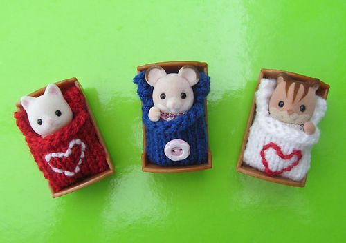 3 Sleep Bags for Sylvanian Family Hand Knitted | eBay