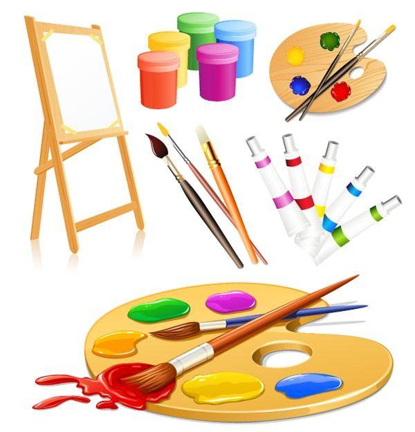 Drawing tools supplies vector graphics
