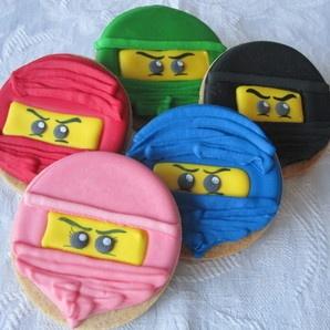 Sweet n Pretty Iced Ninjago Lego Cookies