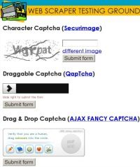 "TEST DRIVE: CAPTCHA. How can scrapers bypass the ""robot fighters""?"
