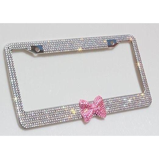 Bling Bling Pink Bow Licence Plate Frame