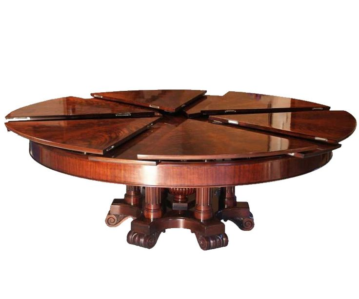 17 best images about sam 39 s dream 39 s expanding tables on pinterest furniture expandable - Expandable circular dining table ...