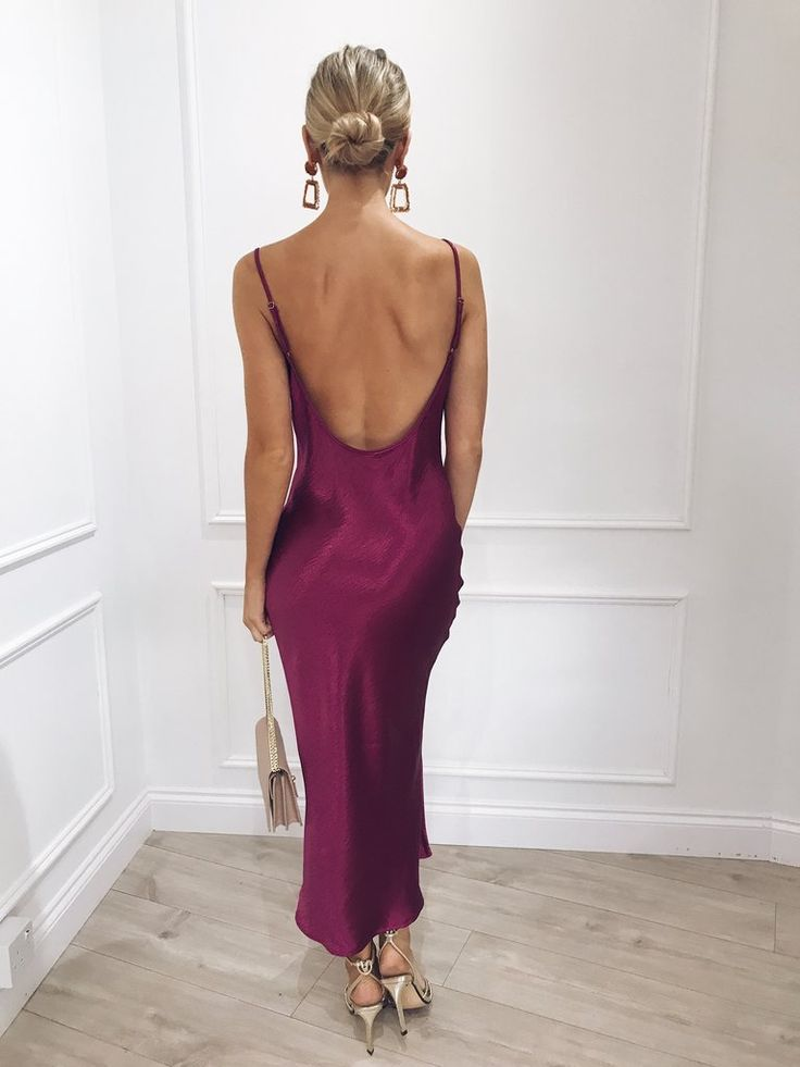 Keisha Slip Dress - Magenta 11