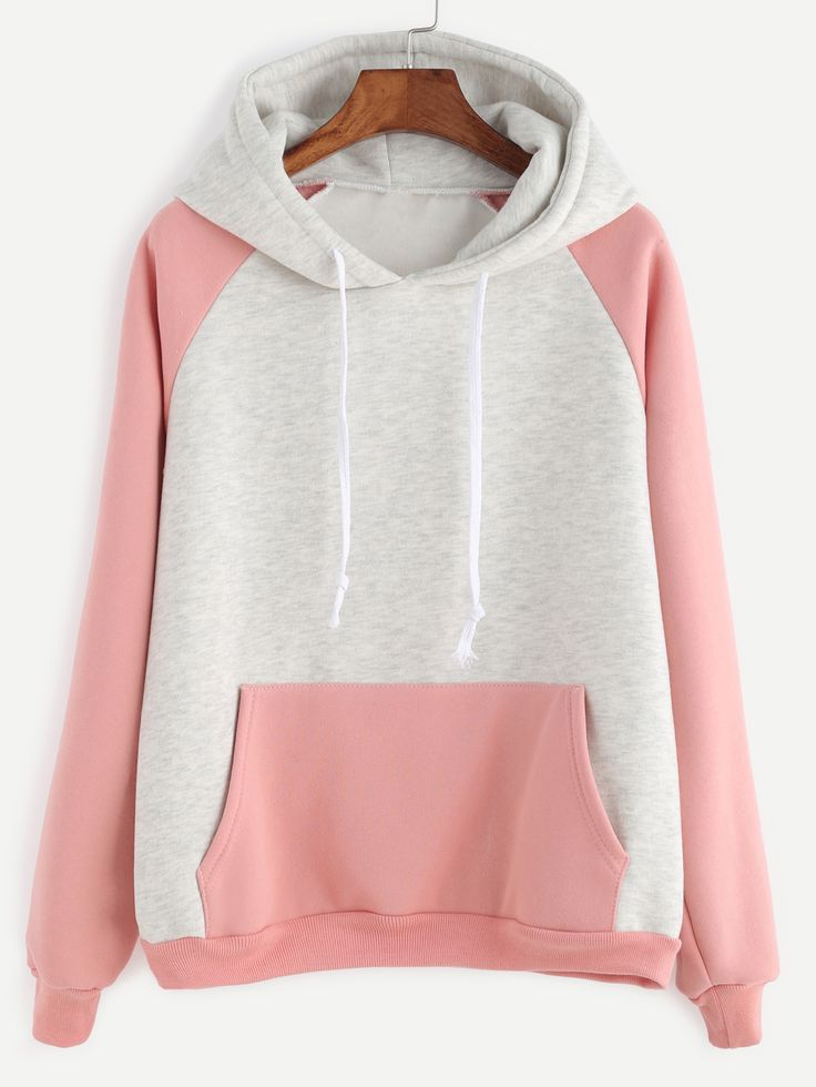 Color Block Hooded Sweatshirt — 0.00 € --------------------------color: Grey size: one-size