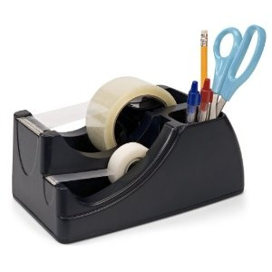 Amazon.com: Officemate Recycled 2-In-1 Heavy Duty Tape Dispenser, Black (96690): Office Products