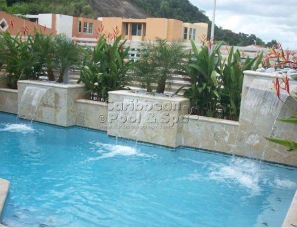 78 best images about caribbean pool spa www for Piscinas con jacuzzi y cascada