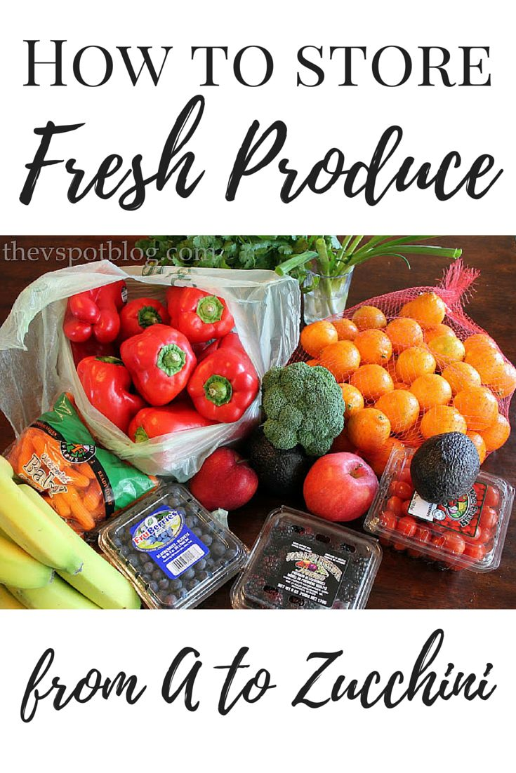 Do you ever buy fresh fruits and vegetables, toss them into the produce drawer and forget about them?  Then a few days later you open the drawer only to discover that  it's all spoiled? Here are some of the best methods for storing your fresh produce.