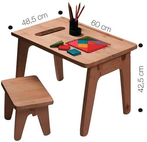 A mesa com banquinho do Projeto Cabanos é produzida por artesãos de comunidades carentes do Pará com madeira de descarte da indústria. Custa 75 reais, sem o frete.