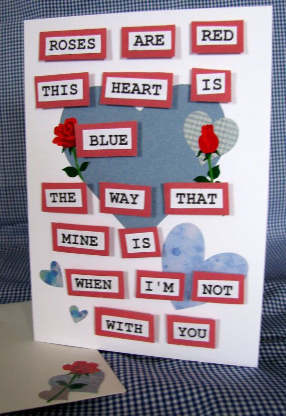 Roses are Red  Handmade card  valentines day by RogueKissedCraft