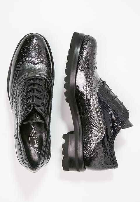 Derbies Franco Russo Napoli Chaussures à lacets - nero/piombo/dark navy bleu foncé: 83,00 € chez Zalando (au 05/02/17). Livraison et retours gratuits et service client gratuit au 0800 915 207.