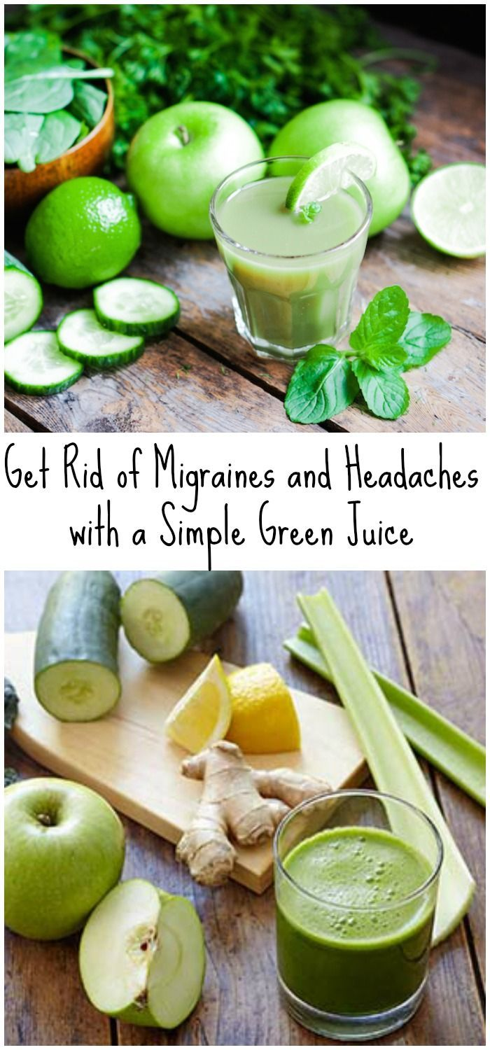 Get Rid of Migraines and Headaches with a Simple Green Juice – Home Remedies