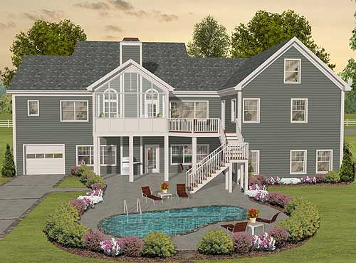 Plan 20078GA: Flexible Ranch With Loaded Optional Lower