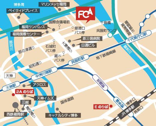 所在地&地図 福岡デザインコミュニケーション専門学校
