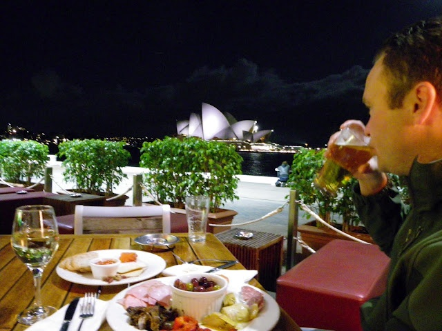 Cruise Bar - Circular Quay. Yes, this was our view as we sipped drinks & ate this amazing cured meat plate...go!