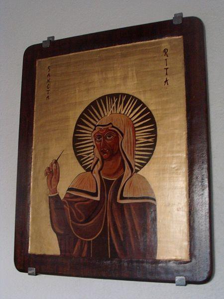 St Rita of Cascia   www.saintnook.com/saints/ritaofcascia    File:Ste-Rita-Marseille-60.JPG