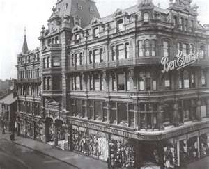 Ben Evans Department Store, Swansea, Wales, destroyed in the Blitz.