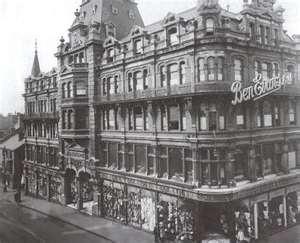 Ben Evans Department Store, Swansea, destroyed in the Blitz.