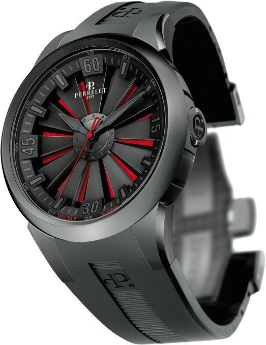 Uno de los mejores y deseados relojes del mundo. En las primeras posiciones de mi lista de joyas masculinas: Perrelet Double Rotor Turbine Watch