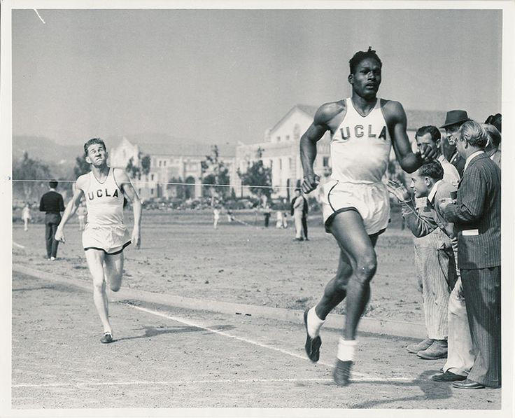Tom Bradley winning track race, 1939. That's Los Angeles mayor Tom Bradley, winning a track race as a UCLA student! You can learn more about Mayor Bradley's career in the Mayor Tom Bradley...