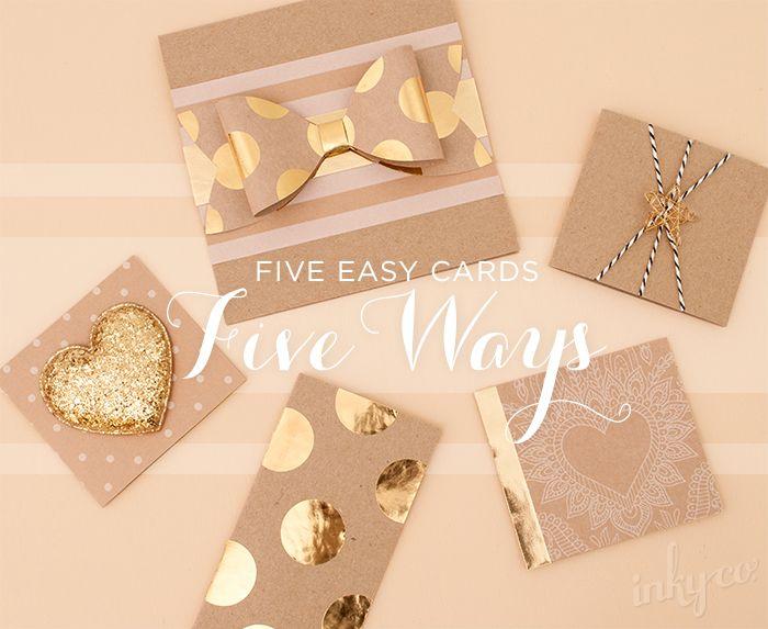 DIY:5つの簡単なカード、FIVE WAYS