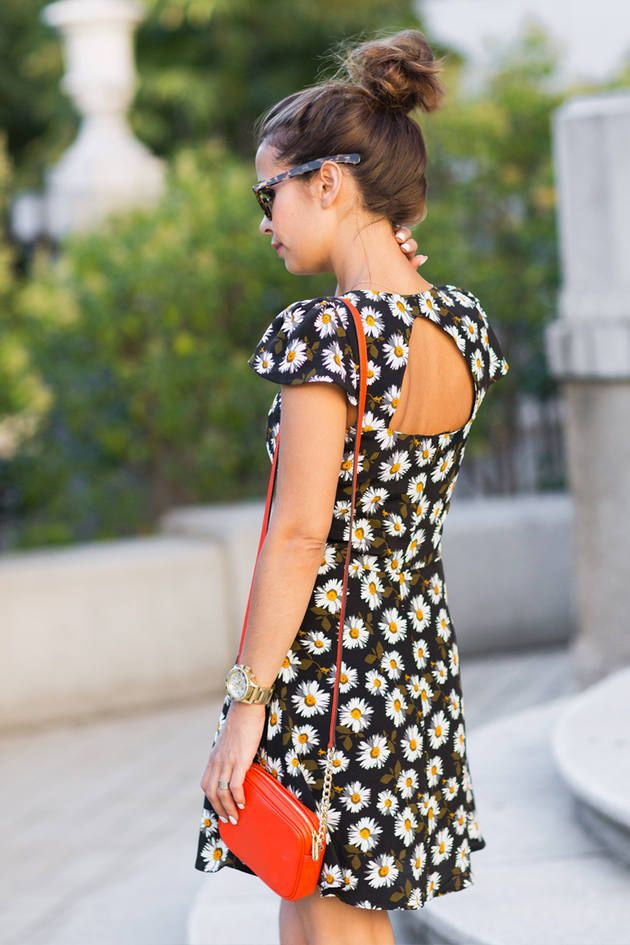 Triangle Back Flower Dress