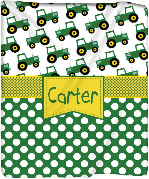 Personalized My Tractor & Me Plush Fleece Blanket - Other Themes Available