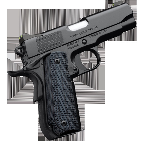 Kimber 1911 Super Carry Pro HD - Stainless steel slide and frame plus Custom Shop features make it ideal for duty and personal protection.