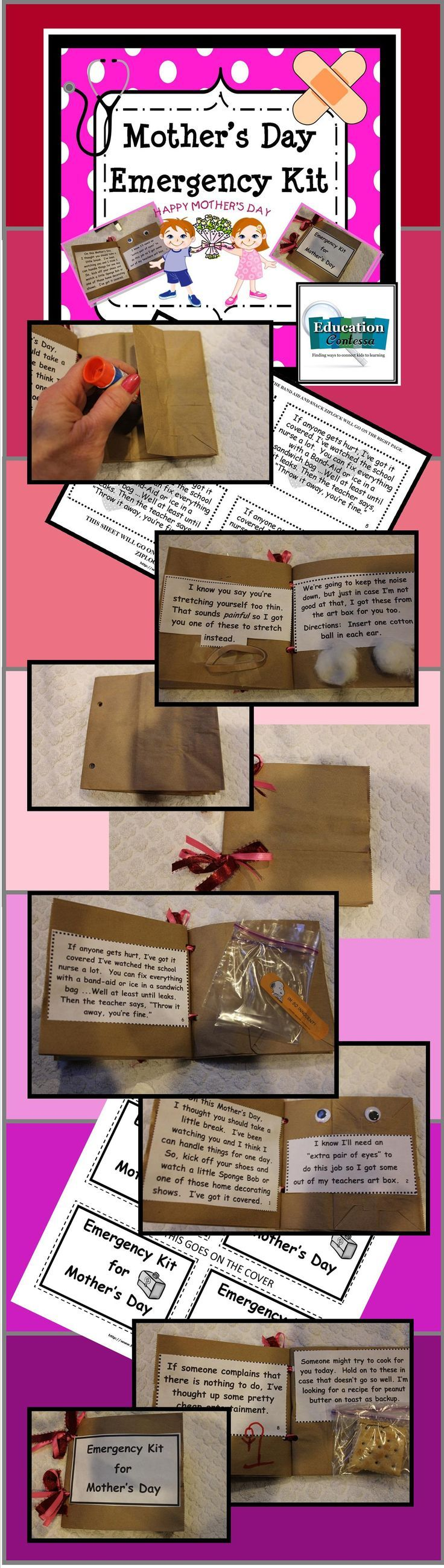 """This is the coolest little gift to make for Mother's Day! They absolutely love it! Using 3 brown lunch bags and some simple items like a rubber band, you'll make a cute keepsake that will have """"mom"""" emailing you the day it comes home!"""