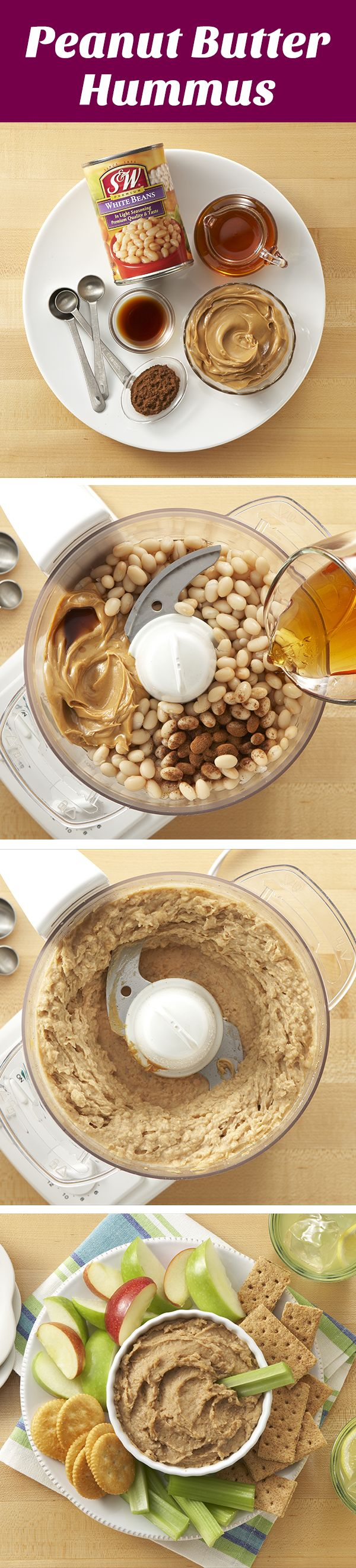 Peanut Butter Hummus | Serve this protein-packed hummus with apple slices or graham crackers for a sweet summer treat!