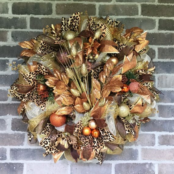 Fall Deco Mesh Wreath For Front Door Elegant Fall Wreath