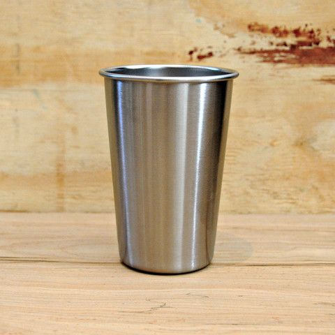 Steel Pint Cup - Forget the chilled glass for beer.  I want mine in cold steel.