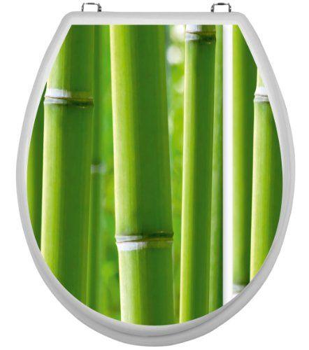 Aufkleber für Klodeckel - Bambus