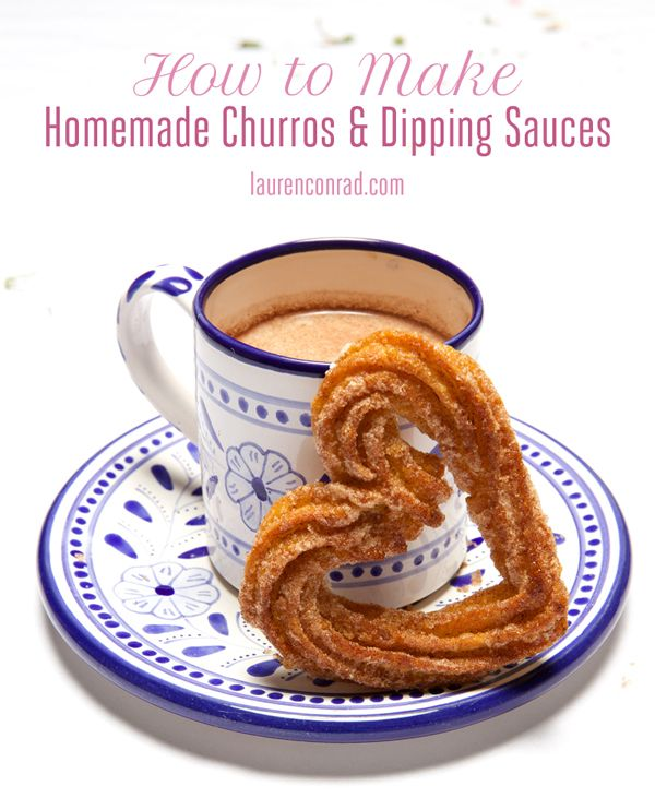 homemade churros and dipping sauces... yum!