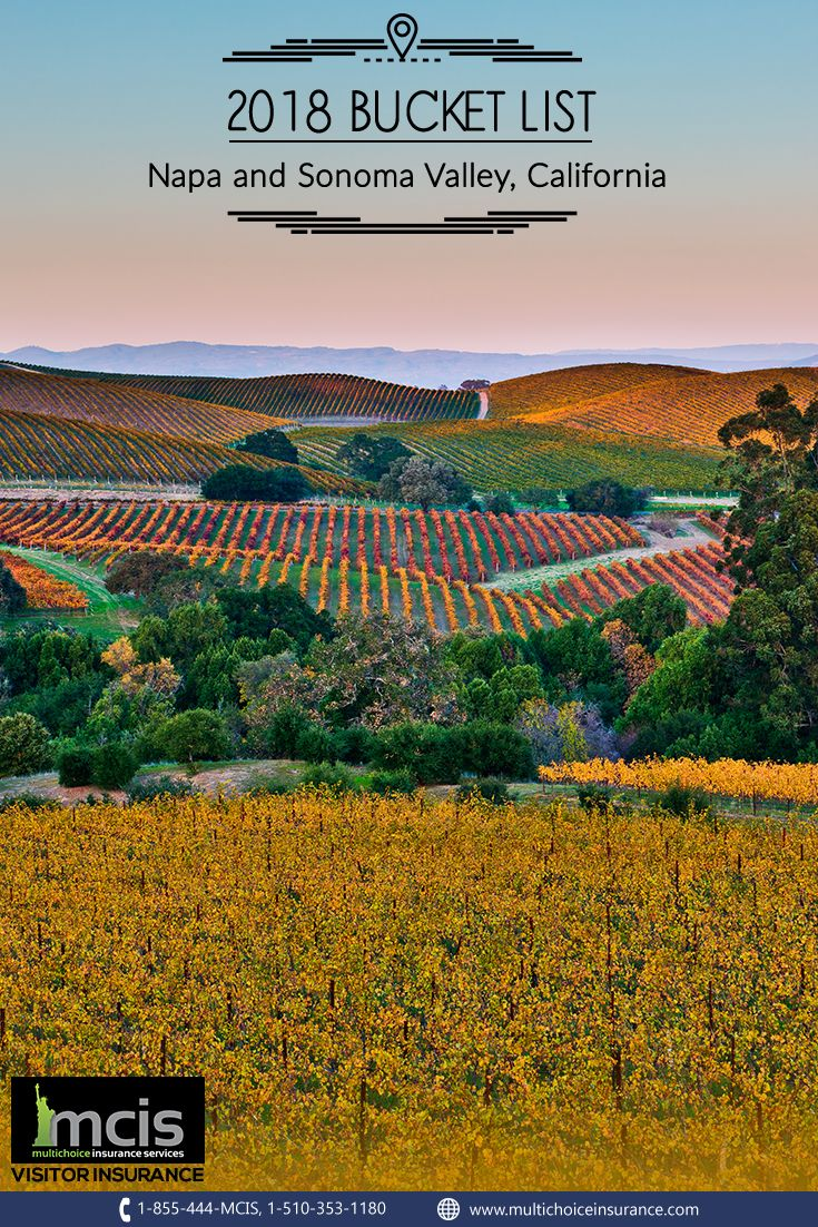 Plan To Lose Yourself At The Hillsides Of Napa And Sonomavalley