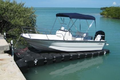 Universal 18' Drive On Floating Boat Lift