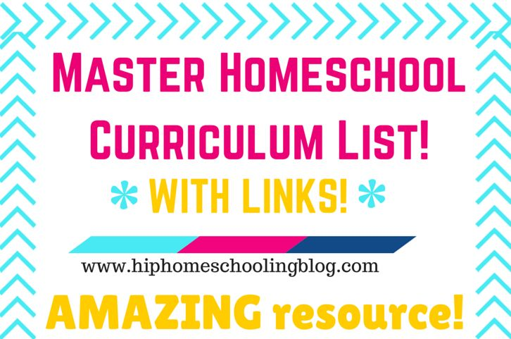 Master Homeschool Curriculum List with links: free online programs, online curriculum, homeschool curriculum by subject, and more! Come check it out!