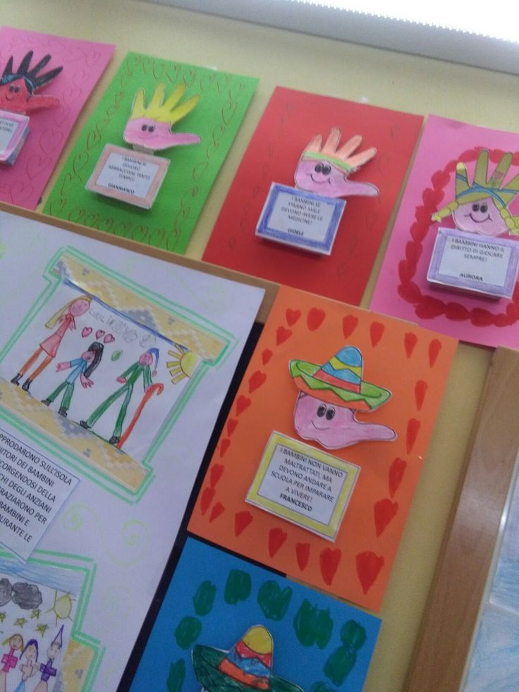 Cartellone sui pensieri dei bambinj