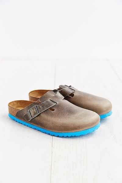 Birkenstock Boston Turquoise Sole Mule Sandal  OMG! I want these Birks bad!!