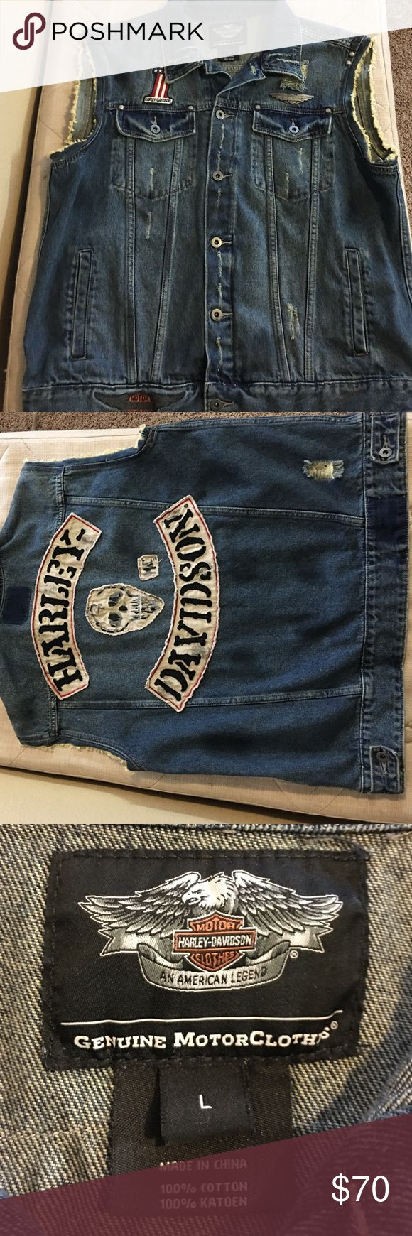 LIMITED EDITION HARLEY DAVIDSON DENIM VEST!! Limited Edition Harley Davidson vest. There are only a few out there and this is one of them. Worn once. In perfect condition. Harley-Davidson Jackets & Coats Vests