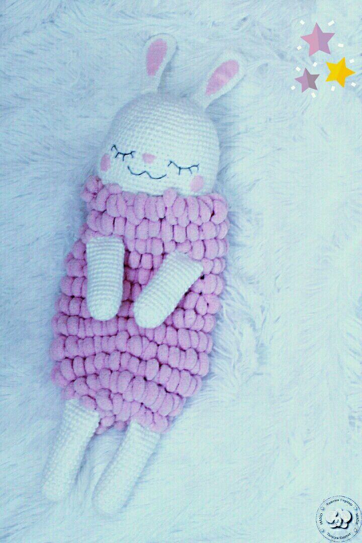 Купить Зайка-пижамница - зайка, заяц, вязаный заяц, Пижамница, игрушка пижамница, зайка пижамница