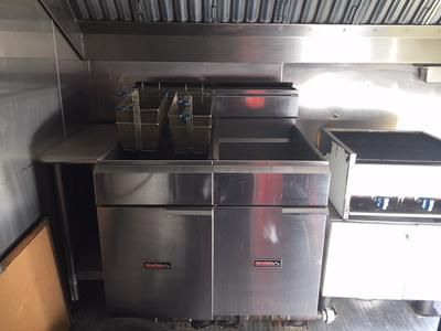 Interior: 2/17/2016 Oklahoma City, Oklahoma - CONCESSION TRAILER FOR SALE BY ESTATE.  $17,500.00.  This trailer was manufactured in 2006 by Forest River, Inc. (www.forestriverinc.com)