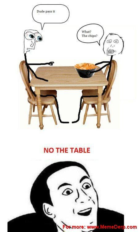 Derp Derpina Internet Meme's Collection: Pass The Table