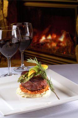 Fireside Dining...Romantic!!