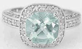 This may be the prettiest  ring ive ever seen. Green Amethyst Engagement Rings (GR-2086)
