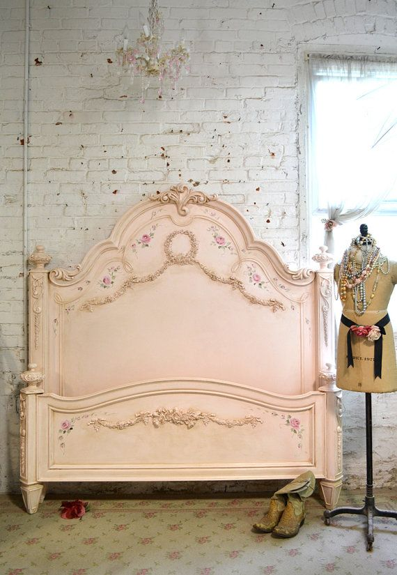 Hey, I found this really awesome Etsy listing at https://www.etsy.com/listing/198044493/painted-cottage-shabby-romance-queenking